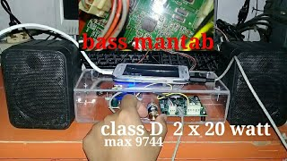 class d power amplifier with ic max 9744