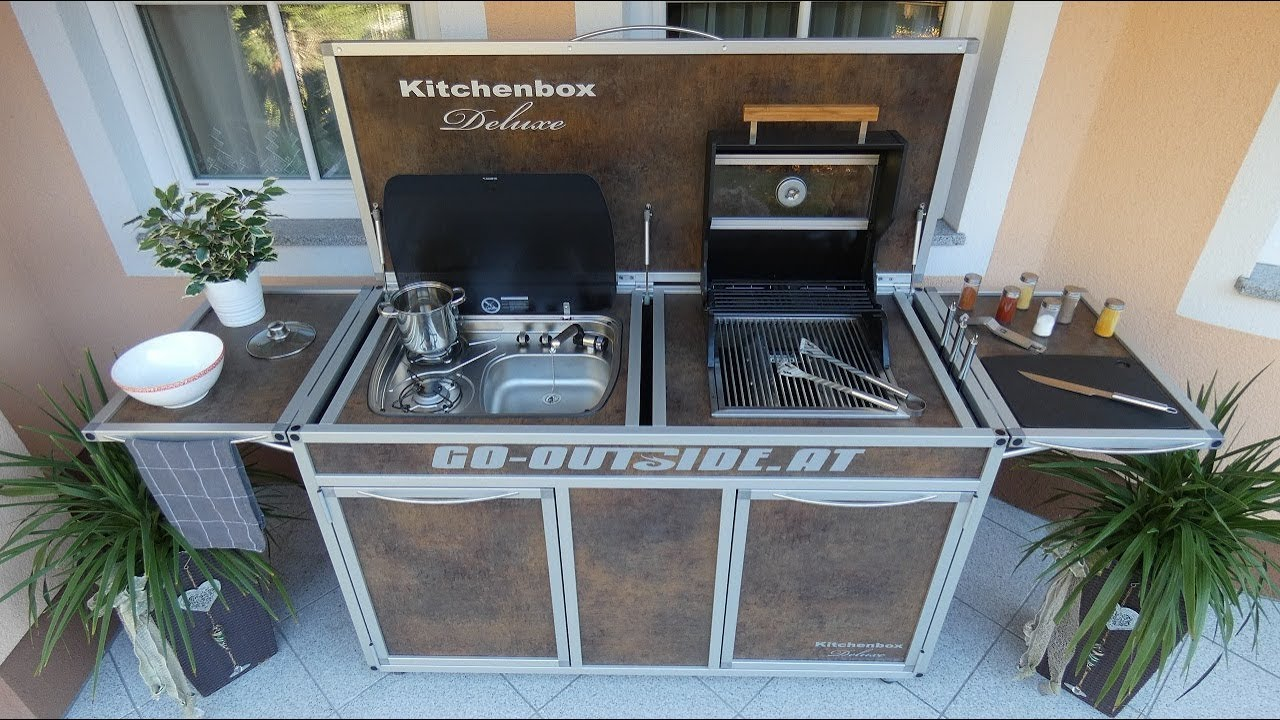 Burnout Outdoor Küche Kitchenbox Deluxe Mobile Garten- Und Outdoor-küche - Youtube