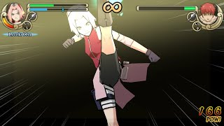 Naruto Shippuden Ultimate Ninja Impact Walkthrough Part 7 Sakura vs Sasori (60FPS)