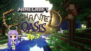 """OUR FIRST SPELL"" Minecraft Enchanted Oasis Ep 7"