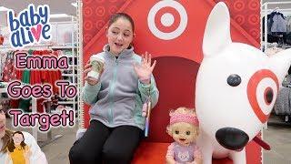 Baby Alive Emma Goess to Target! Emma Goes Shopping! | Kelli Maple
