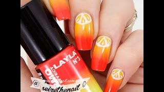 Easy Citrus Nail Art On A Thermal Color Changing Polish
