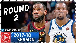 Kevin Durant vs LeBron James MVP Duel Highlights 2018.01.15 Warriors vs Cavaliers 32 Pts Each