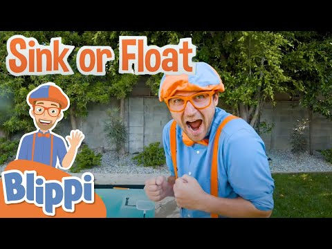 Sink Or Float With Blippi | Science Videos For Toddlers | Educational Videos For Kids