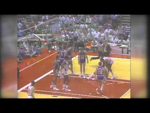 1985 NBA Playoffs Utah Jazz vs  Houston Rockets Game 5 Montage