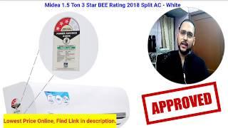Midea 1.5 Ton 3 Star Copper Condenser Split AC Full Review