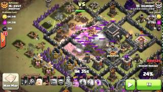 TH9 Three Star Strategy GoWi+ Healer Hog Clash of Clans War Raids