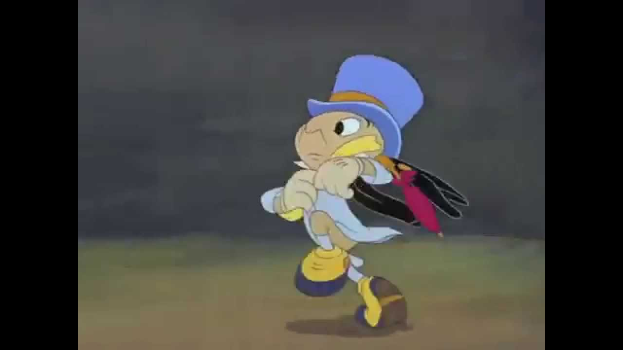Slow Motion Running Jiminy Cricket Pinocchio 1940 YouTube