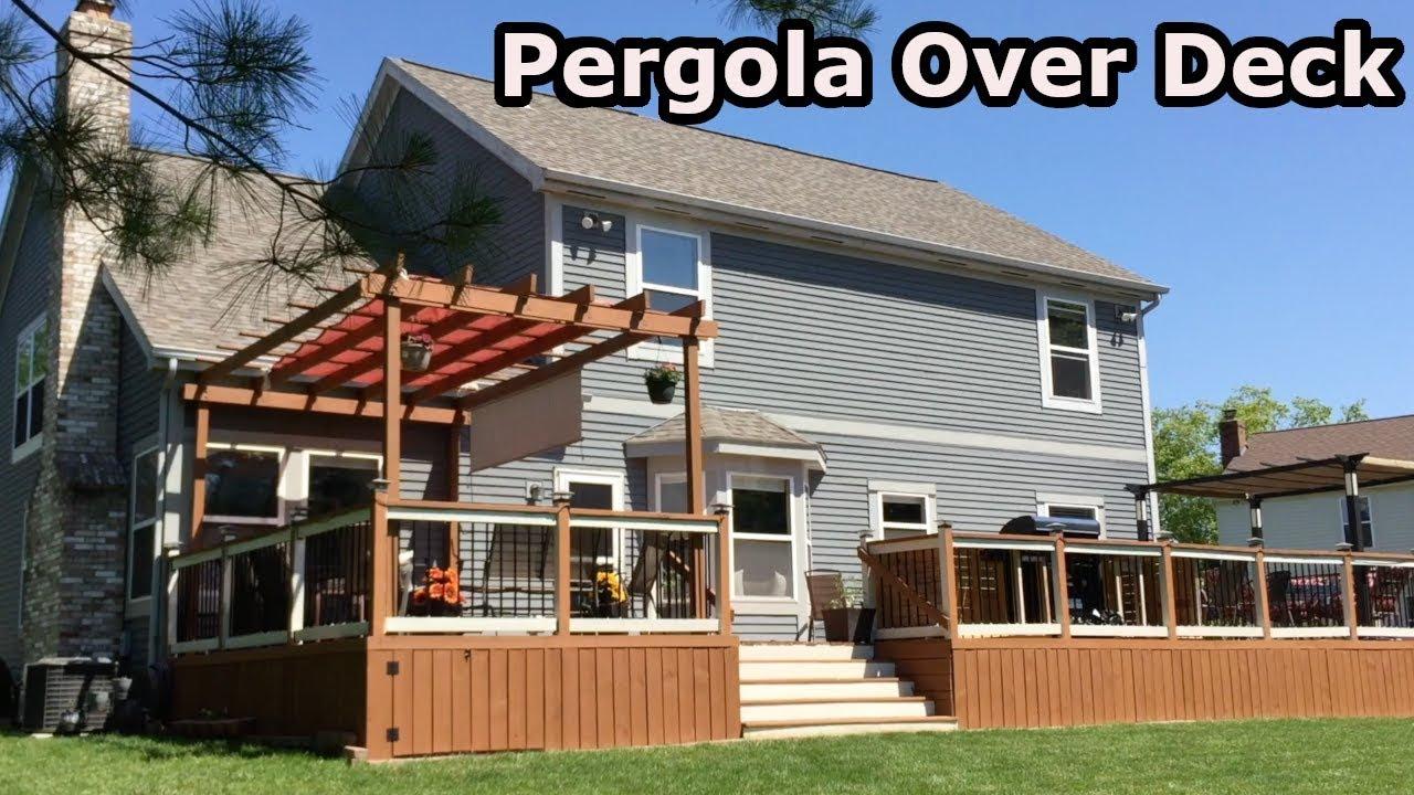 Building Pergola Over Deck - Building Pergola Over Deck - YouTube
