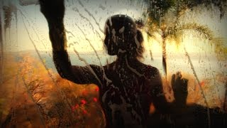 TROPICAL WINDOW CLEANING: Binaural ASMR SLEEP induction with water & SOAPY sounds