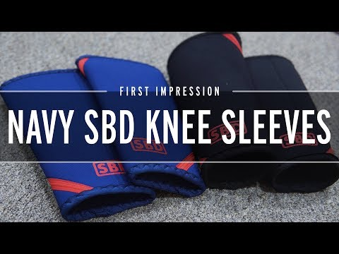 LIMITED EDITION Navy & Red SBD Knee Sleeves - First Impression