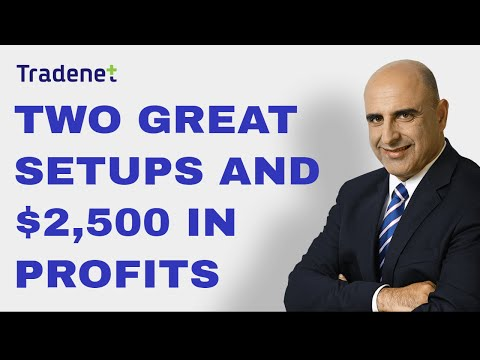 Day Trading with two great setups & $2,500 in Profits