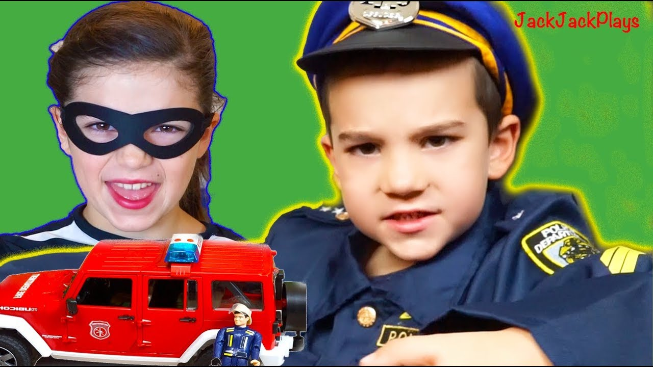 Fire Trucks for Kids - Costume Pretend Play - Playing Police u0026 Firefighter  sc 1 st  YouTube & Fire Trucks for Kids - Costume Pretend Play - Playing Police ...