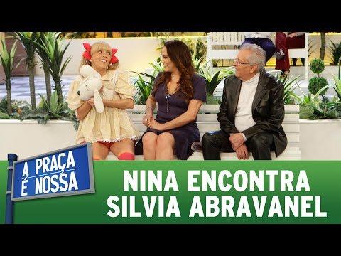 Nina encontra Silvia Abravanel | A Praça É Nossa (15/06/17)