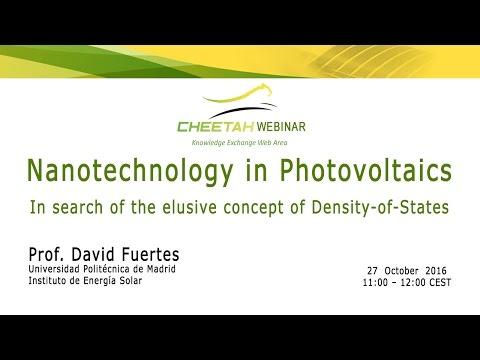 20161027 CHEETAH Webinar Nanotechnology in Photovoltaics - David Fuentes – UPM