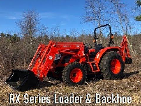 Kioti RX6620 Powershuttle Tractor w/ Loader & KB485 Backhoe - Walkthru