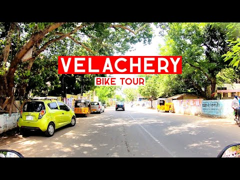 Driving in Velachery Main Road | Chennai | Bike Tour