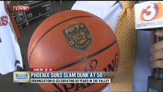 "Phoenix Suns ""Slam Dunk at 50"" tips off the Suns' 50th season"