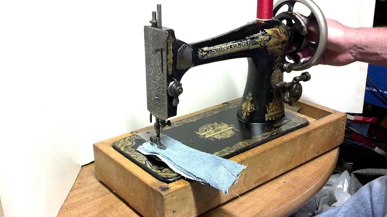 1902 Singer Treadle Sewing Machine Sphinx - Year of Clean Water