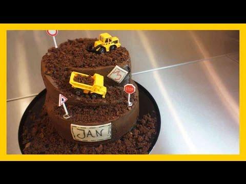 30Minuten Baustellen Torte  Kindergeburtstags Baustellen