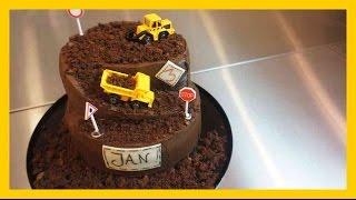 30Minuten Baustellen Torte - Kindergeburtstags Baustellen Kuchen ohne Fondant - Kuchenfee
