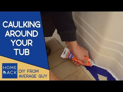 How to caulk around the bathtub