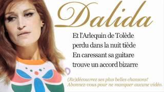 Dalida - L'Arlequin de Tolède -  Paroles (Lyrics)