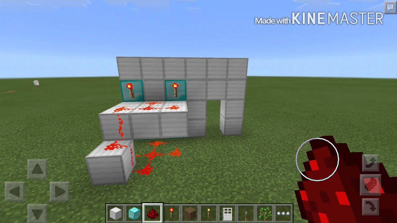 how to create a lever door in minecraft