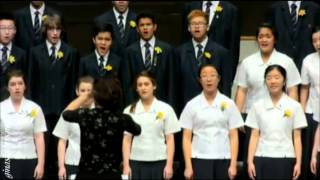 Macleans College Choir at the Big Sing 2013 Session 1
