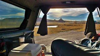 Truck Camping Below Chiṁney Rock - Nebraska