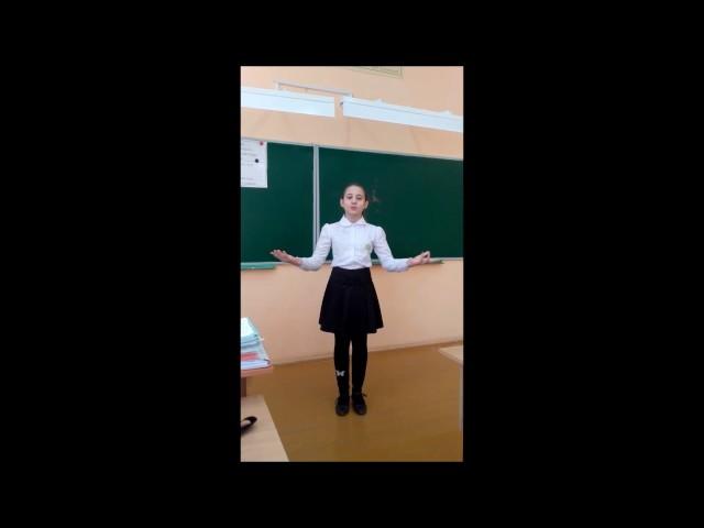 Изображение предпросмотра прочтения – АнастасияБронская читает отрывок изпроизведения «Бородино» М.Ю.Лермонтова