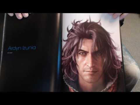 Final Fantasy XV 192 page art book blind reaction (FFXV MINOR spoiler alert)