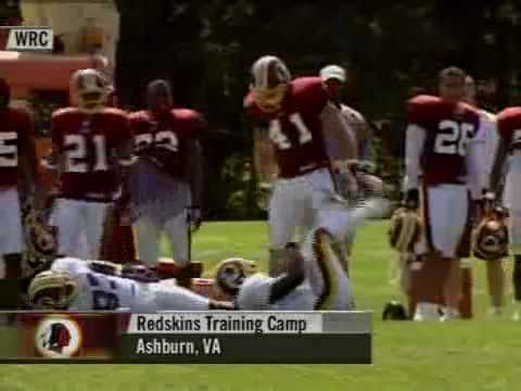 2003 Redskins - Matt Bowen Drills Trung Candidate
