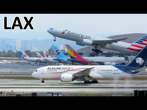 1 Hour | AMAZING PLANESPOTTING at Los Angeles Airport (LAX) | ✈ [Full HD]