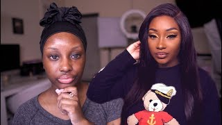 Get Ready with Me | Dealing with ANXIETY + Yellow Eyeshadow for Dark Skin | Makeupd0ll