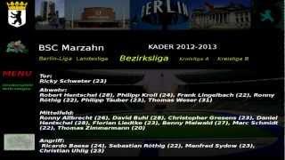 BSC Marzahn Kader 2012-2013 Bezirksliga 3 .Abteilung
