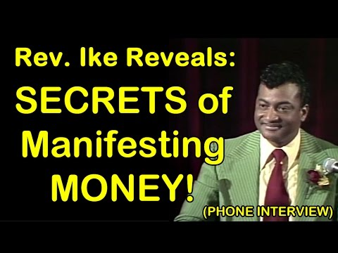 Rev. Ike Reveals 'Secrets of MANIFESTING Money' - Rare Recorded Interview with Michele Blood