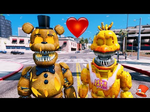 JACK-O-FREDDY'S HALLOWEEN FIRST DATE! (GTA 5 Mods For Kids FNAF Redhatter)