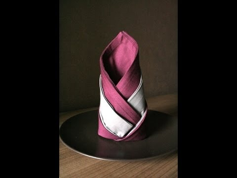 servietten falten wappenlilie napkin folding lily noun youtube. Black Bedroom Furniture Sets. Home Design Ideas