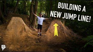 BUILDING A NEW DIRT JUMP LINE!!!!! - BACKYARD TRAILS EP.10