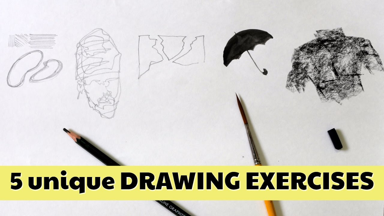 Practice and improve your drawing skill : 5 unique exercises