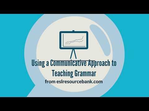 Communicative Approach To Teaching Grammar
