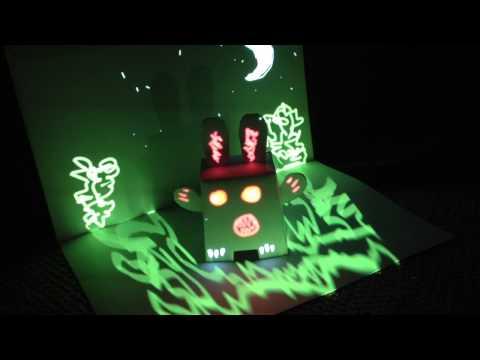 Pop-up book mini projection mapping tests