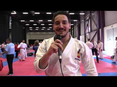 Interview to Damian Quintero of Spain. Finalist Individual Kata. 2016 European Karate Championships
