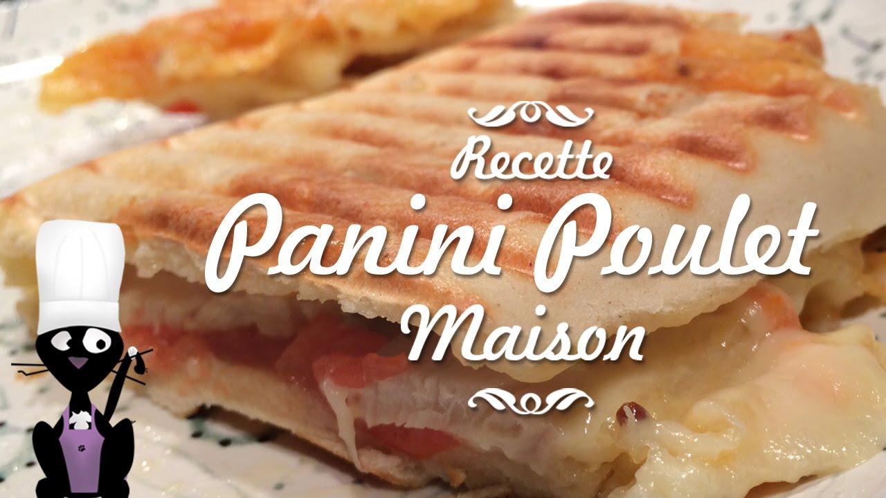 Recette Facile De Panini Au Poulet Et Fromages
