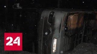 Авария автобуса в Коми: водитель винит в аварии неизвестное животное - Россия 24