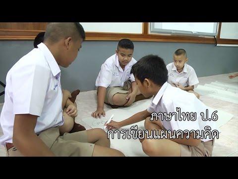 ภาษไทย ป.6 การเขียนแผนความคิด ครูปริศนา กลั่นเขตรกรรม
