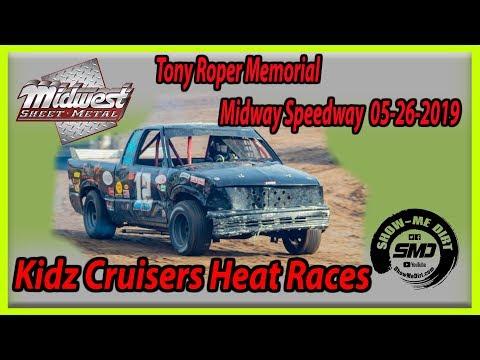 S03-E250 Tony Roper Memorial Kidz Cruisers Heat Races Lebanon Midway Speedway 05-26-2019