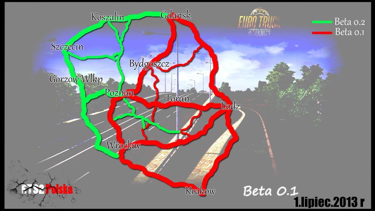 Euro Truck Simulator 2 Mapa Polski Ets 2 Polska Youtube