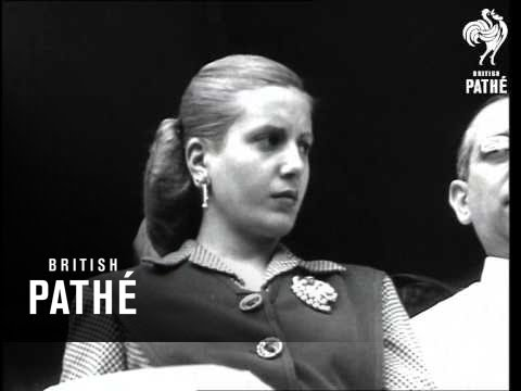 Peron Amp Eva Campaigning 1940 Youtube